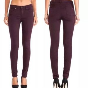 Rag & Bone Wine Legging Zipper Skinny Jeans 25